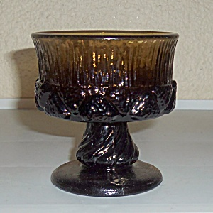 FOSTORIA GLASS SORRENTO BROWN CHAMPAGNE GLASS! (Image1)