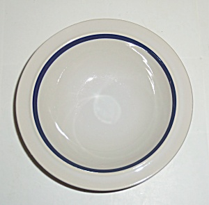 INDEPENDENCE CHINA STONEWARE SONORA COBALT CEREAL BOWL! (Image1)