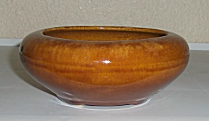 BRUSH McCOY POTTERY BROWN ONYX #01 ART BOWL! (Image1)