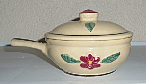 Watt Pottery Raised Rose Individual Handled Casserole w (Image1)