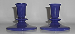 Franciscan Pottery El Patio Early Cobalt Candlestick