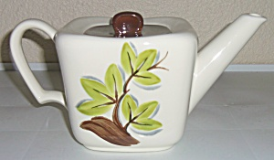 Continental Kilns Pottery Woodleaf Teapot W/lid! (Image1)