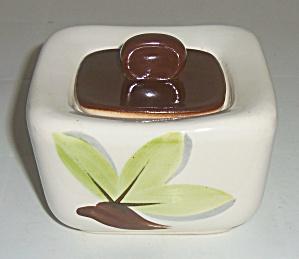 Continental Kilns Pottery Woodleaf Sugar Bowl W/lid! (Image1)