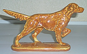 Caliente Pottery Hunting Dog Pointer Figurine