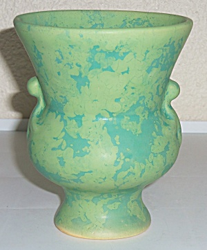 Weller Pottery Early Mottled Green Vase! (Image1)
