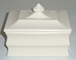 Franciscan Pottery Montecito Ivory Cigarette Box W/lid
