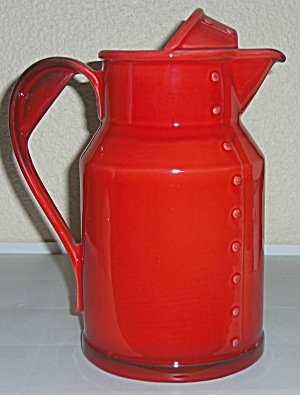 Metlox Pottery Poppy Trail Red Rooster Ice Lip Pitcher