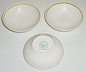 Franciscan Pottery Antigua China Set/3 Fruit Bowls