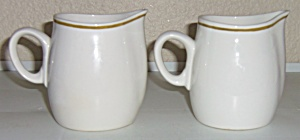 Franciscan Pottery Antigua China Pair Creamers