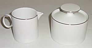 Thomas China Platinum Band Creamer / Sugar Bowl Set! (Image1)