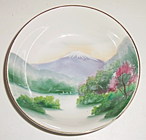 Oriental China Hand Decorated Mt Fuji Fruit Bowl! (Image1)