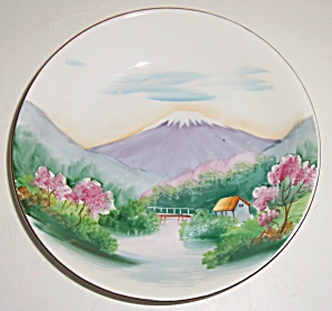 Oriental China Hand Decorated Mt Fuji Soup Bowl! (Image1)