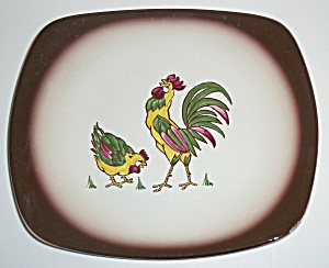 California Ceramics Pottery Rooster Platter! (Image1)