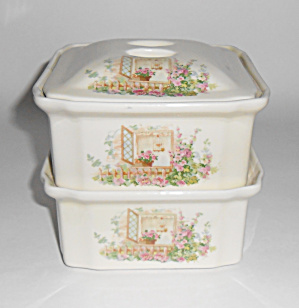 Coors Pottery Open Window Refrigerator Set W/lid