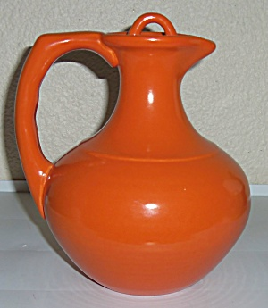 Franciscan Pottery El Patio Flame Orange Carafe W/Cap! (Image1)