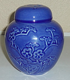 METLOX POTTERY POPPY TRAIL COBALT COVERED INCENSE JAR (Image1)