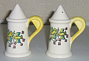 Metlox Pottery Happy Time Salt/pepper Shaker Set Mint
