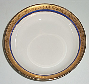 Pope Gosser China Gold w/cobalt Band Fruit Bowl! (Image1)