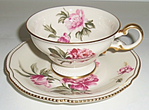 Castleton China Peony Cup & Saucer Set! (Image1)