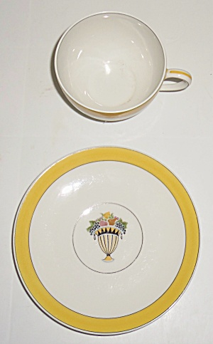Chas Field Haviland Limoges Fruit Basket Cup/Saucer Set (Image1)