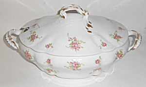 Charles Ahrenfeldt China Floral Decorated Tureen W/lid