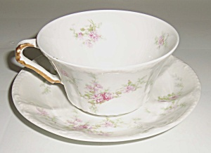 Theodore Haviland China Floral Decorated Cup/Saucer Set (Image1)