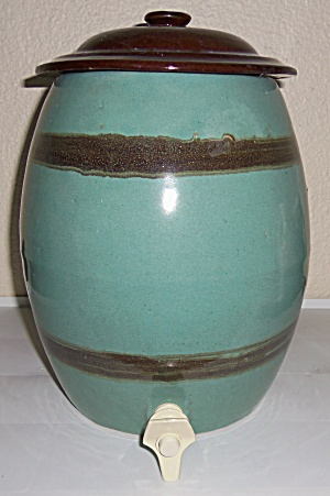 Zanesville Stoneware Pottery Country Fare Water Cooler! (Image1)