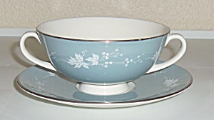 Royal Doulton China Reflection Cream Soup Bowl W/Saucer (Image1)