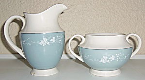 Royal Doulton China Reflection Creamer/Sugar Bowl Set! (Image1)