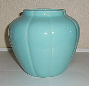 Pacific Pottery Early Lt Blue #626 Ribbed Vase! (Image1)