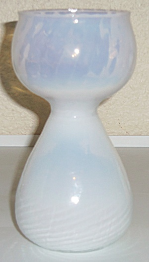 Holmegaard Glass Crystal 6.5 Opalescent Vase W/sticker