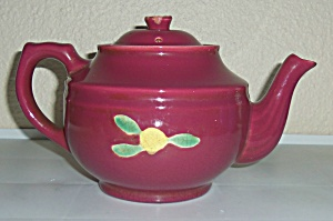 Coors Pottery Rosebud Red Large Teapot