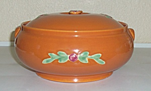 Coors Pottery Rosebud Orange French Casserole! (Image1)