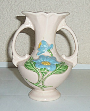 Hull Pottery Magnolia Gloss #H-2 Handled Vase! MINT! (Image1)