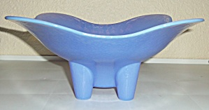 Yalos Casa Murano Blue Opalescent Large Footed Art Bowl (Image1)