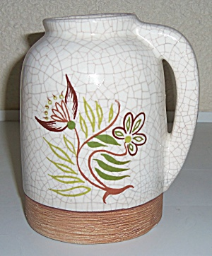 Barbara Willis Pottery Early Provincial Floral Jug! (Image1)