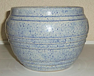 Pacific Pottery Early Blue Drip Banded Jardiniere! (Image1)