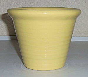 Bauer Pottery Ring Ware 4 Italian Yellow Flower Pot! (Image1)