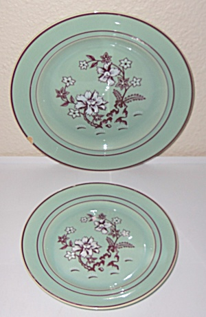 Franciscan Pottery Tiger Flower Pair Plates! (Image1)