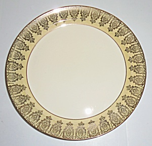 Taylor Smith Taylor Yellow W/gold Dinner Plate