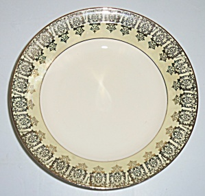 Taylor Smith Taylor Yellow W/Gold Rimmed Soup Bowl! (Image1)
