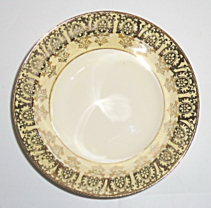 Taylor Smith Taylor Yellow W/gold Decoration Fruit Bowl