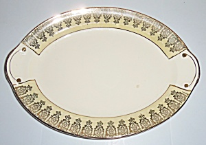 Taylor Smith Taylor Yellow W/gold Decoration Platter