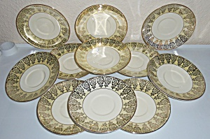 Taylor Smith Taylor Yellow W/gold Decoration Set/11 Sau