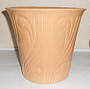 Pacific Pottery Early Art Deco 8+ Apricot Flower Pot! (Image1)