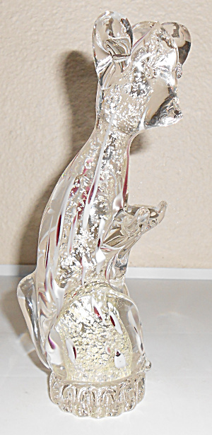 Murano Glass Gold Dust Meercat Figurine