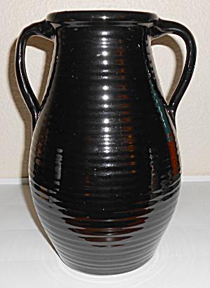 Zanesville Stoneware Pottery Company Black Ring Handled (Image1)