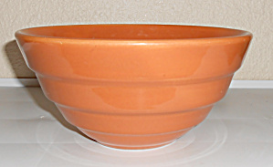 Bauer Pottery #18 Wide Step Lt Brown Mixing Bowl! (Image1)