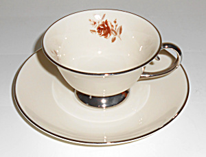 Flintridge China Marlys Cup & Saucer Set!  MINT! (Image1)