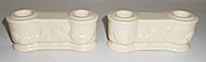 Metlox Pottery Poppy Trail Pair #175 Candlestick Holder